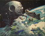 Battle at Endor my painting