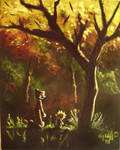 calvin hobbes fall my painting