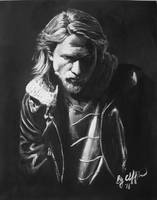 Charlie Hunnam my painting by cliford417