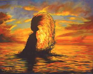 Ocean Rise my painting