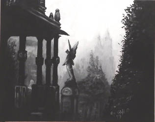 Cemetery Angel my painting by cliford417