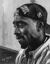 Tupac my painting by cliford417