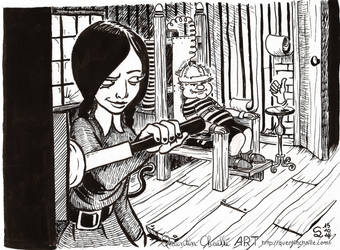 Inktober 2014 #15 Electric Chair Game by qbgchaille