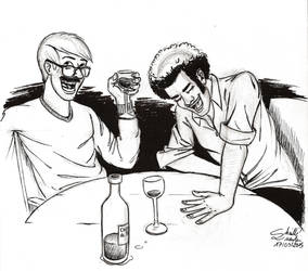 Wine And Laughs by qbgchaille