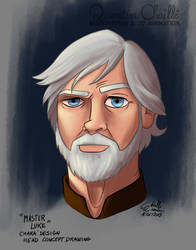Master Luke - Head Concept Drawing June 16th 2015 by qbgchaille