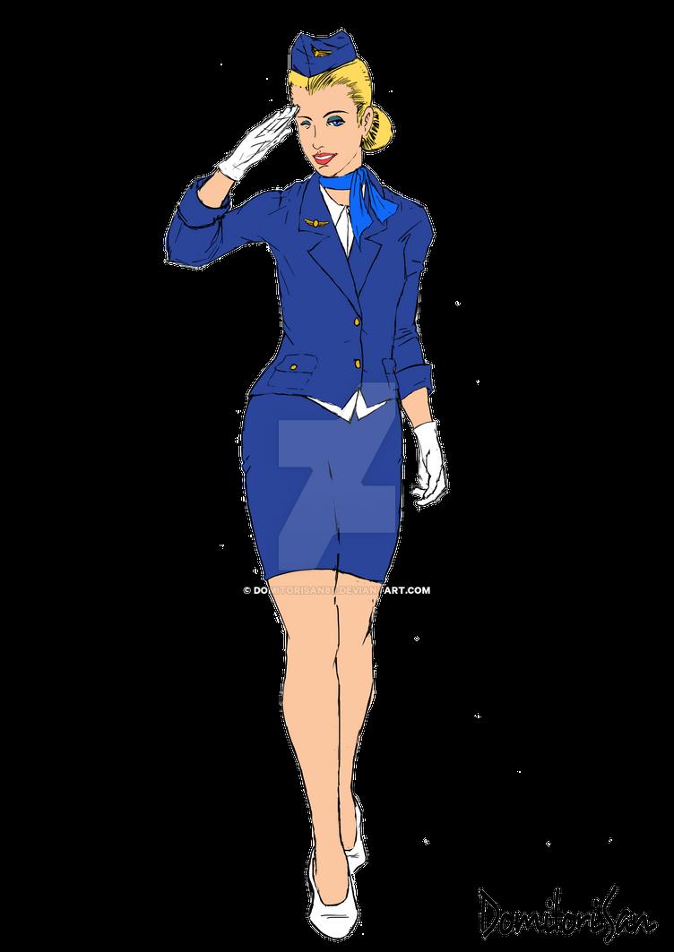 Картинка стюардесса анимация