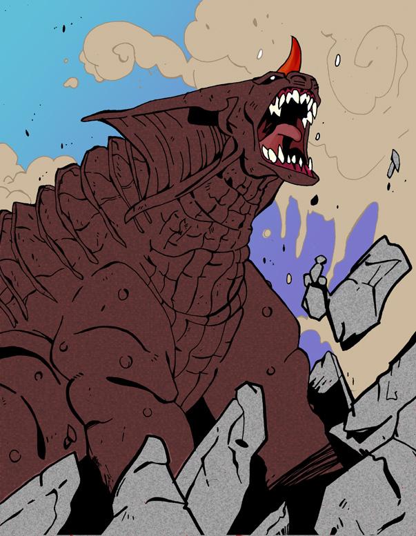 Baragon's roar by rebis