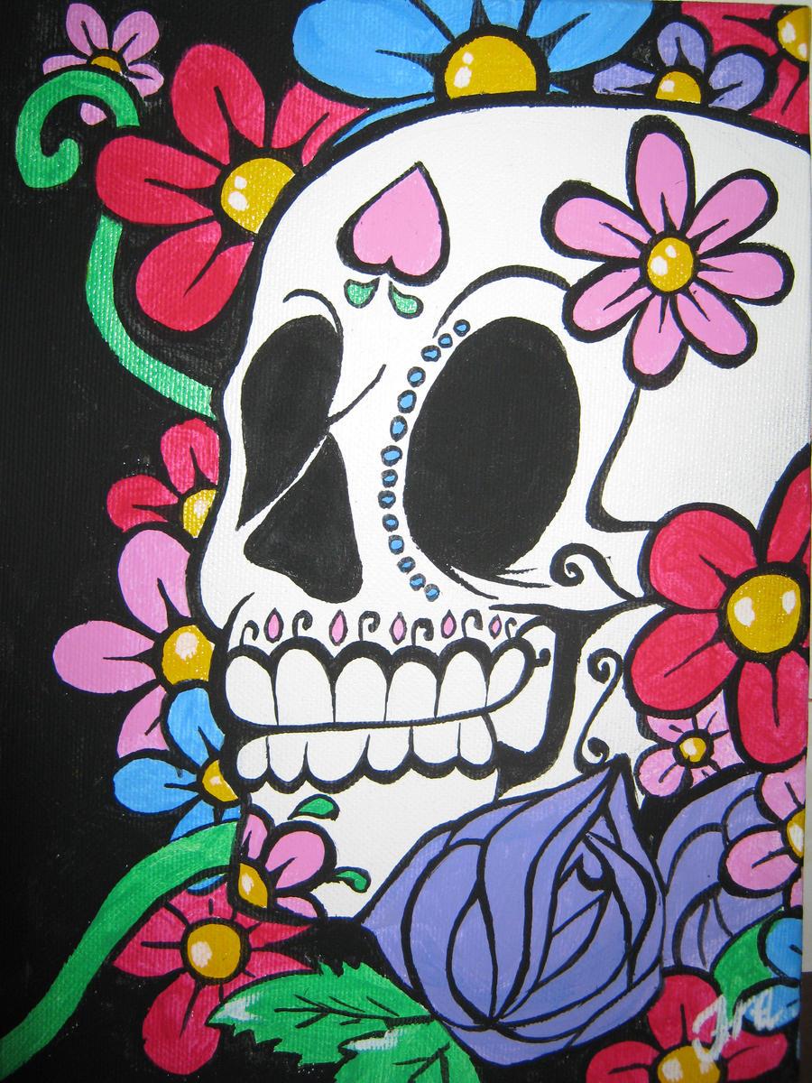 Sugar Skull Wallpaper Iphone Sugar skull by thefraffra Sugar Skull ...
