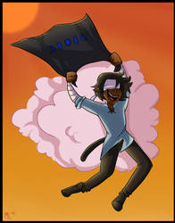 Got the flag! (Artfight) by Shake666Productions