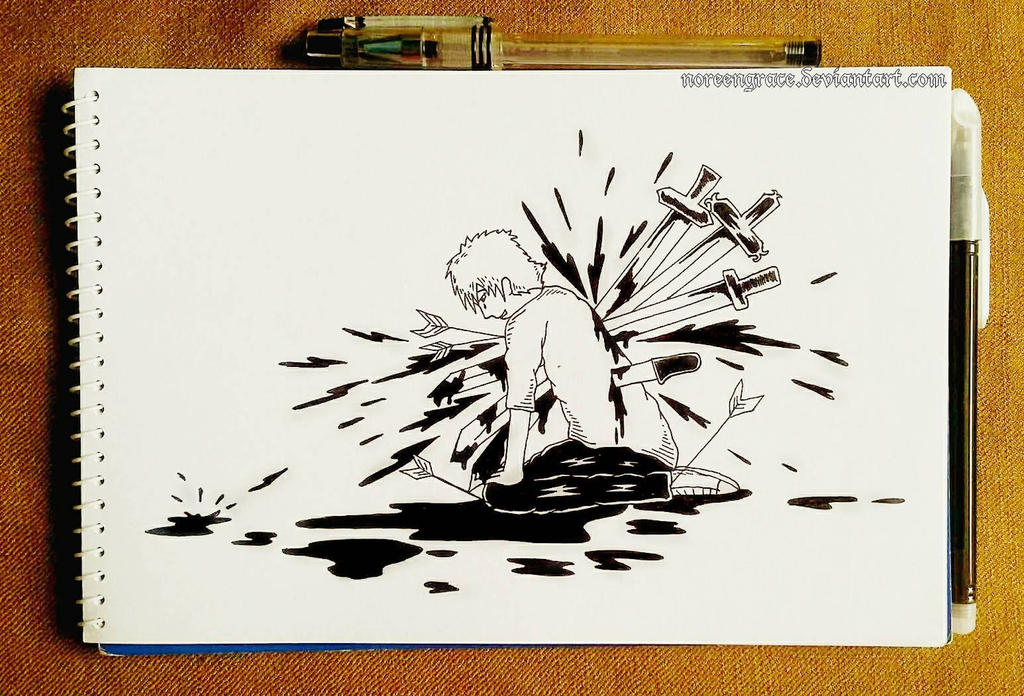 Abounding Pain (Teeming) (Inktober 2017: #13) by NoreenGrace