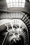 stairway in the school
