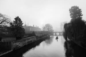 Foggy Morning In Cambridge IV (BW) by torobala