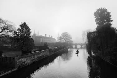 Foggy Morning In Cambridge IV (BW)