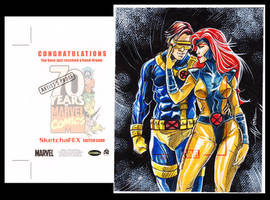 Scott and Jean - Marvel 70th by AEVU