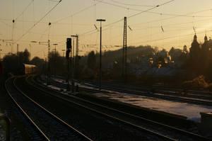A Winter Train by foxblock