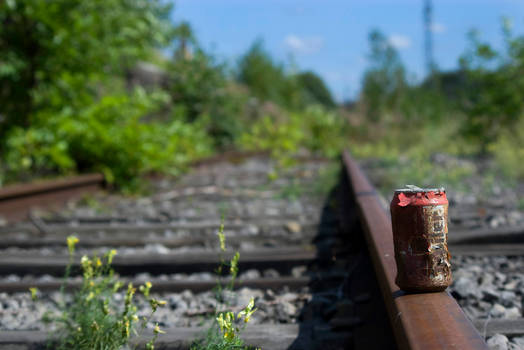 Can on a track