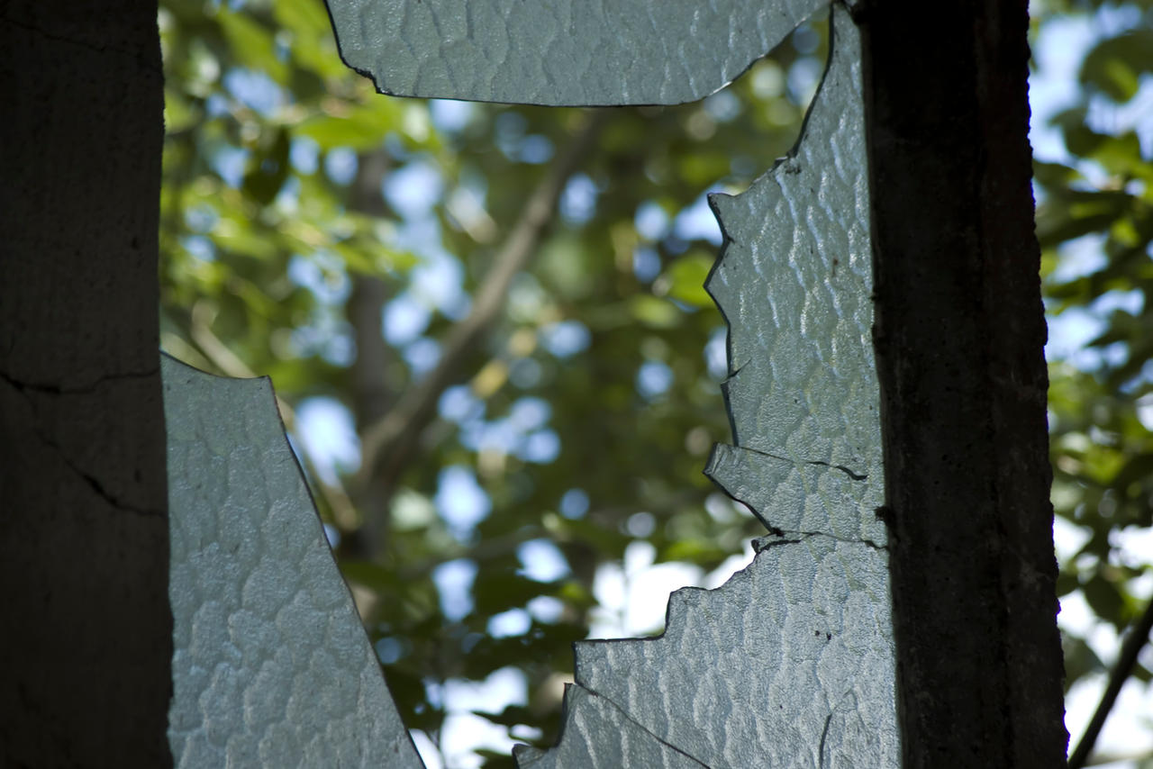 Broken window and the view out by foxblock