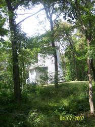 light house in woods