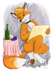 Still life with a fox