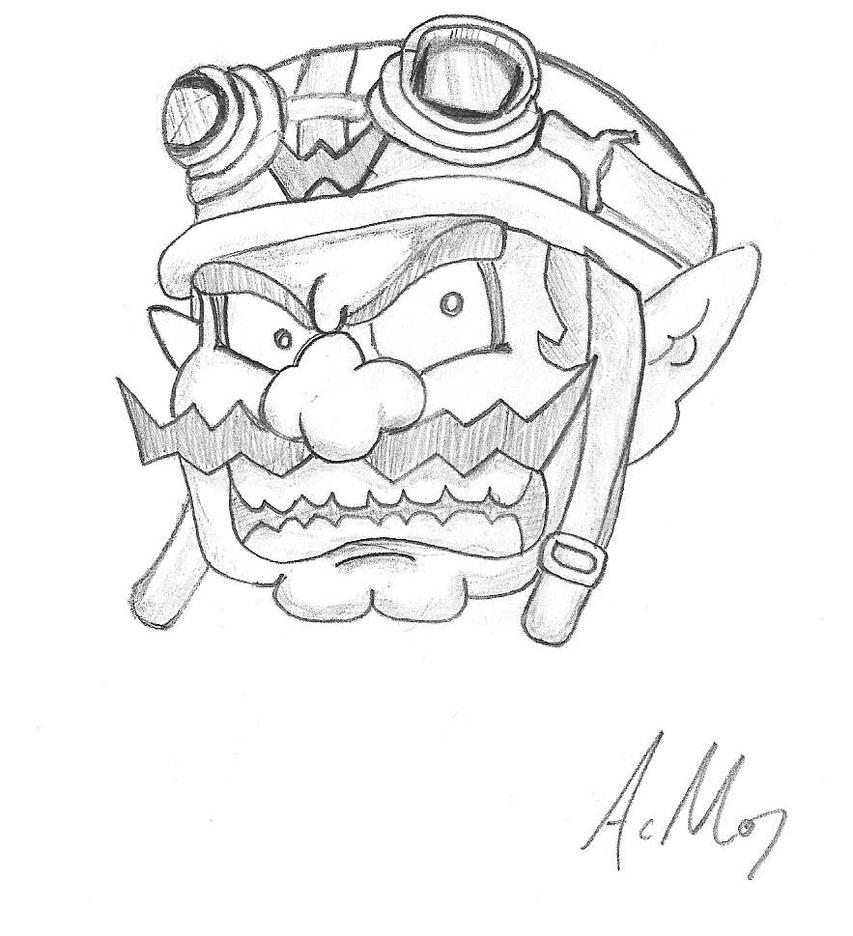wario coloring pages - photo#30
