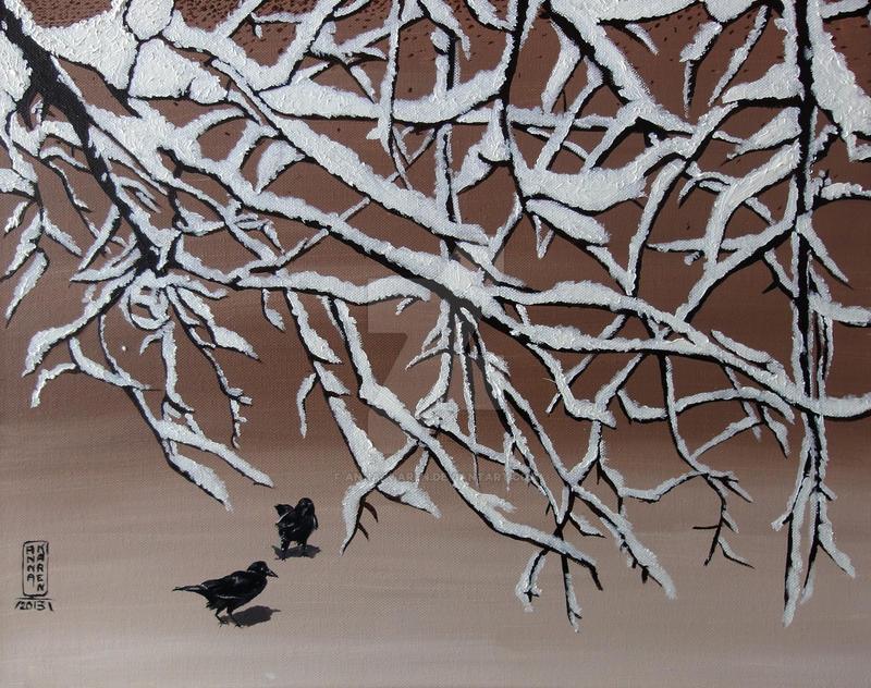 Snowy Branches by Anna-K-AREN