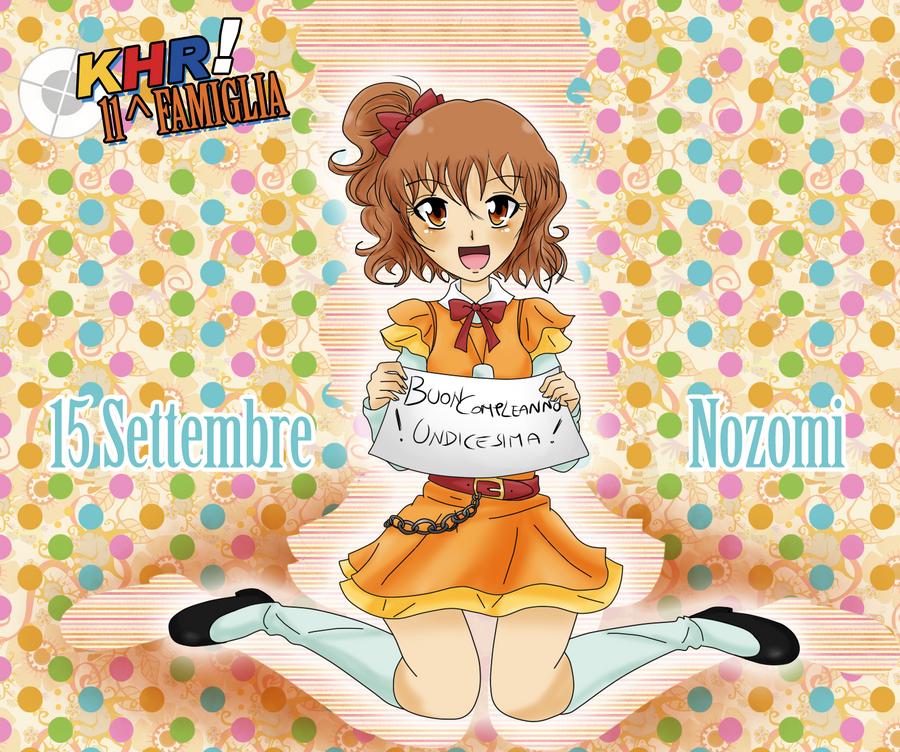 Happy Birthday Sawada Nozomi! by Lushia
