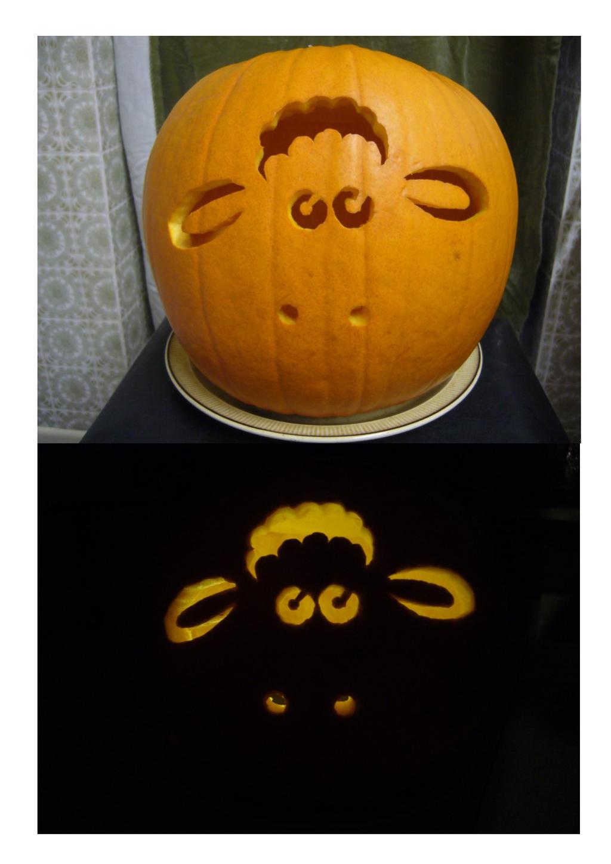 Shaun the Sheep pumpkin by artjuggler on DeviantArt