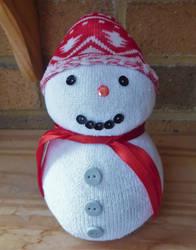 Sock Snowman by artjuggler