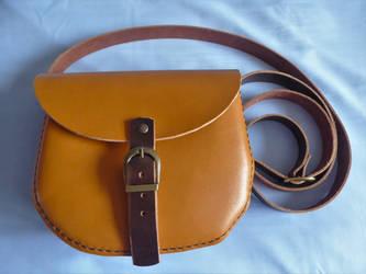 Leather Shoulder Bag by artjuggler