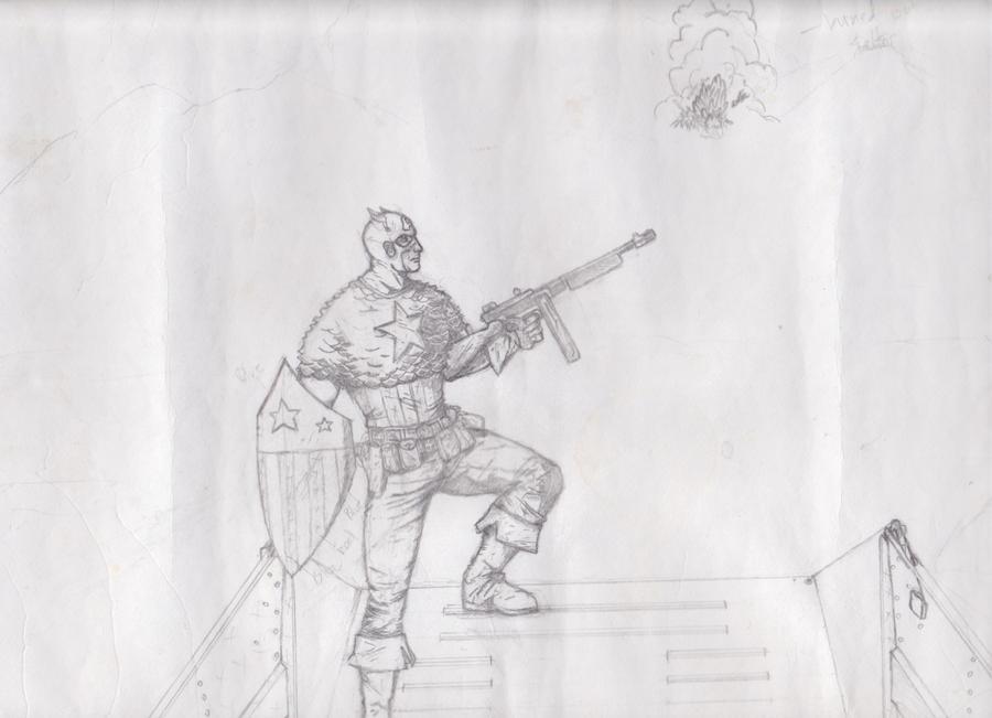 Cap America Sketch by marvelmaniac08