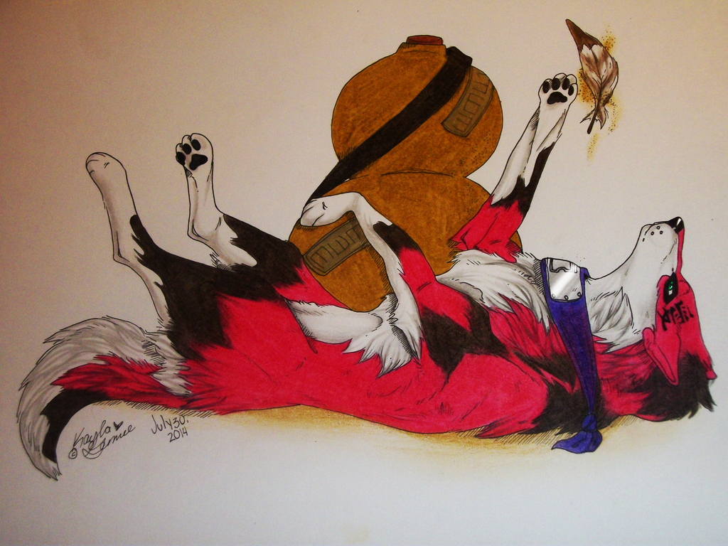 Gaara wolf - Traditional c: by GaarasMeltdown on DeviantArt Gaara As A Wolf