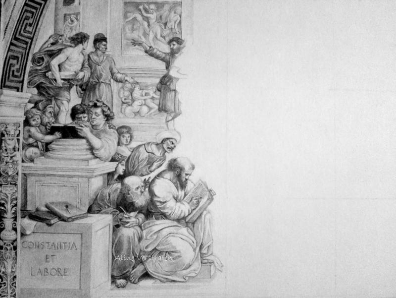 School of Athens - WIP 2 by Aline96