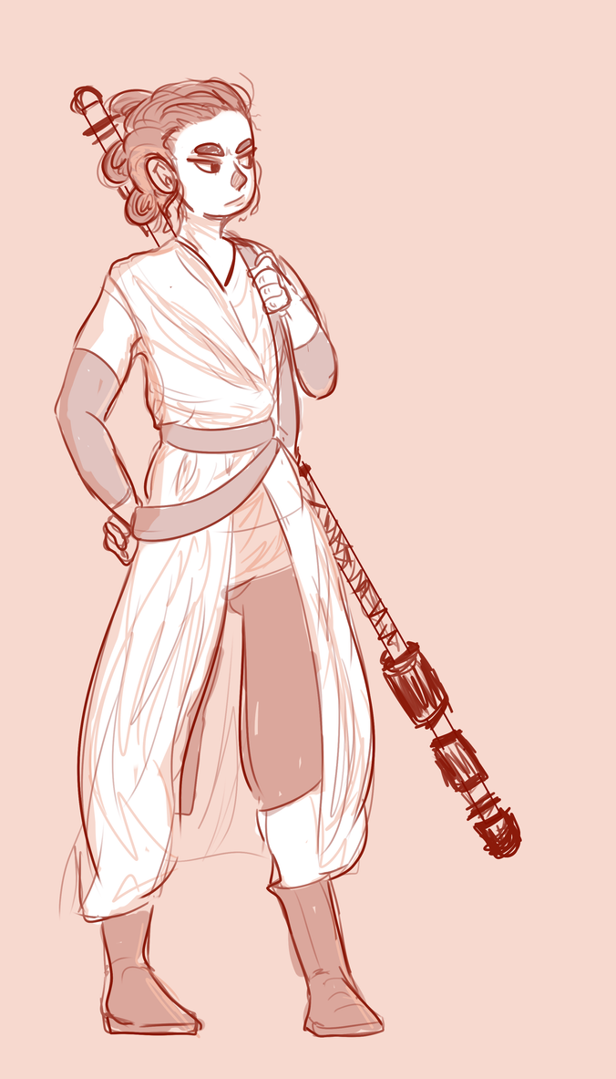 Rey doodle by Birdykun