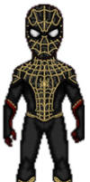 Spider-man Black and Gold Suit (No Way Home)