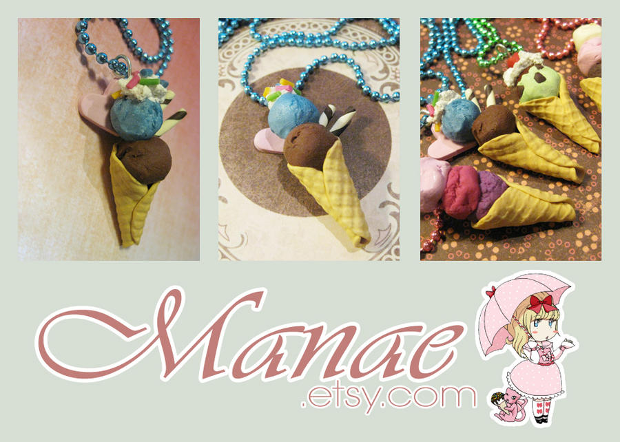 SCENTED Ice-Cream Necklace by tahliadenae