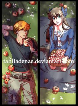 Fruits Basket Bookmark - Tohru and Kyo
