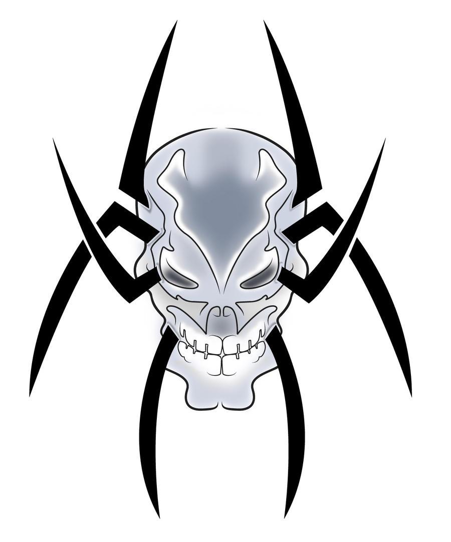 tribal spider skull by b rox u on deviantart. Black Bedroom Furniture Sets. Home Design Ideas