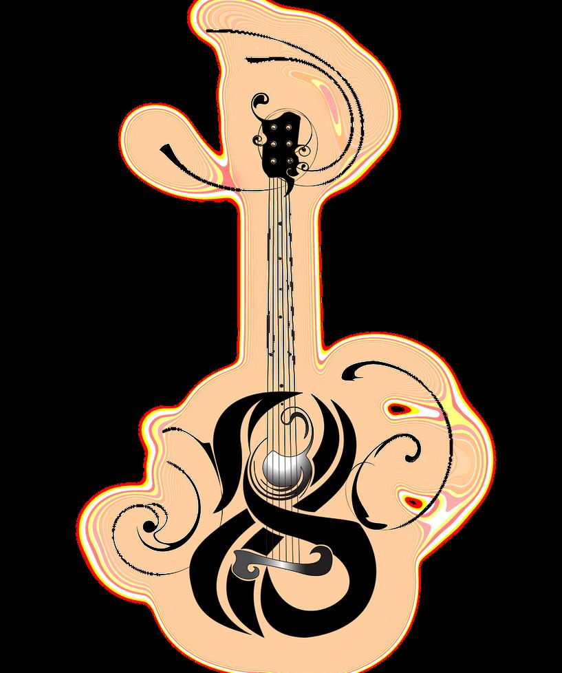 Guitar: Traditional Tattoo by B-Rox-U