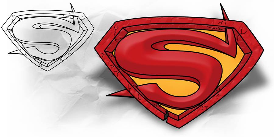 Superman: Tattoo with Template by B-Rox-U on DeviantArt