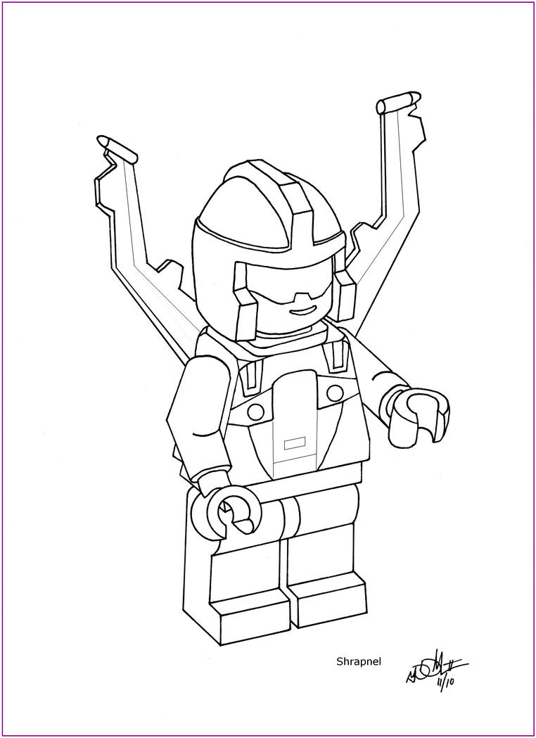 lego minifig coloring pages - photo#21