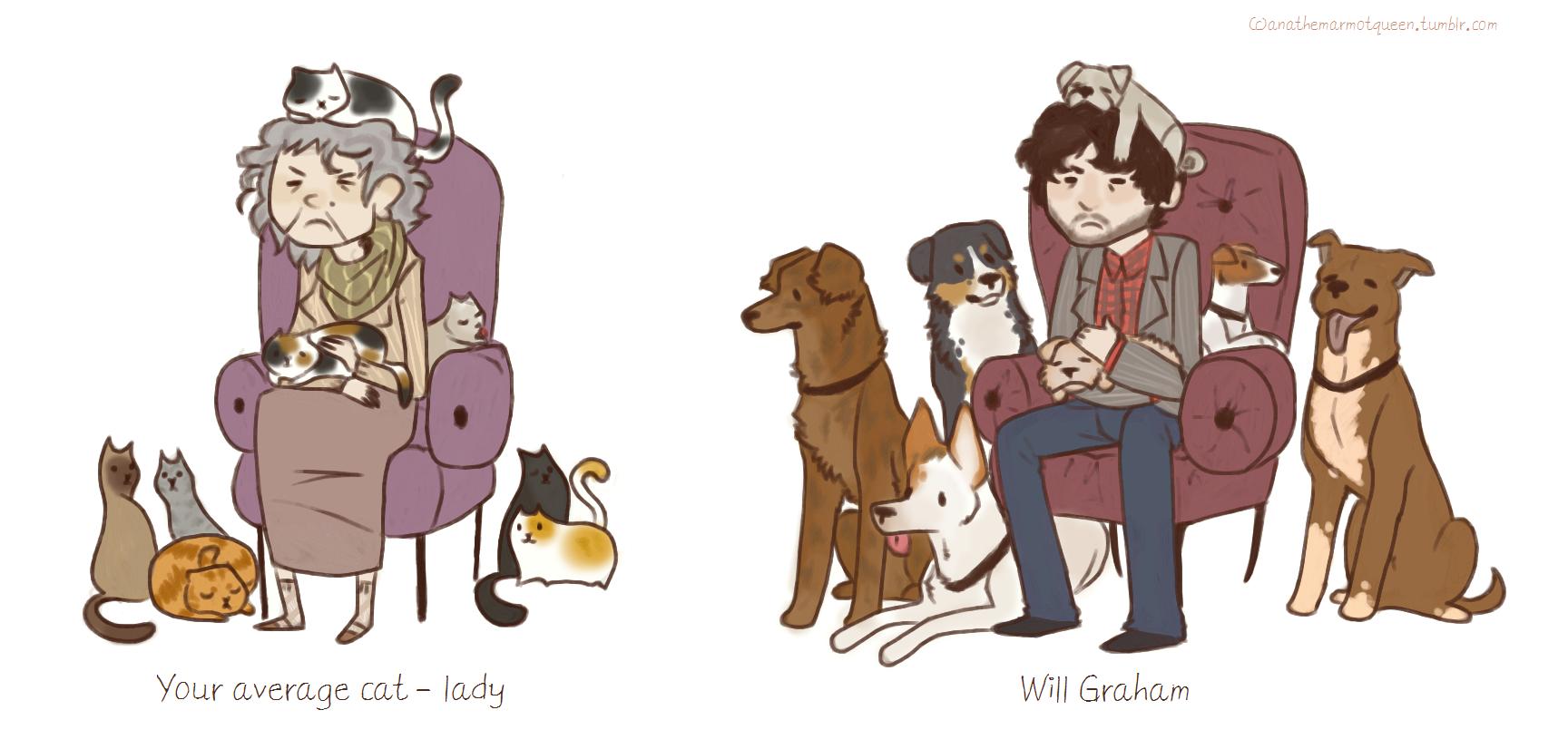 Cat lady vs Will Graham by Sammaella