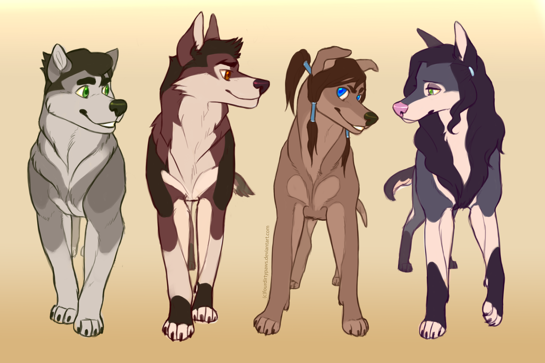 Legend of Korra dogs by FourDirtyPaws