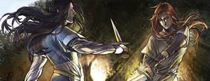 Fingon and Maedhros in Valinor