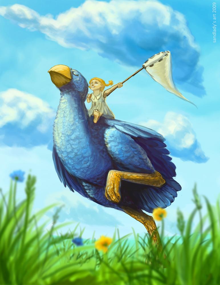 Blue bird by Sedeptra