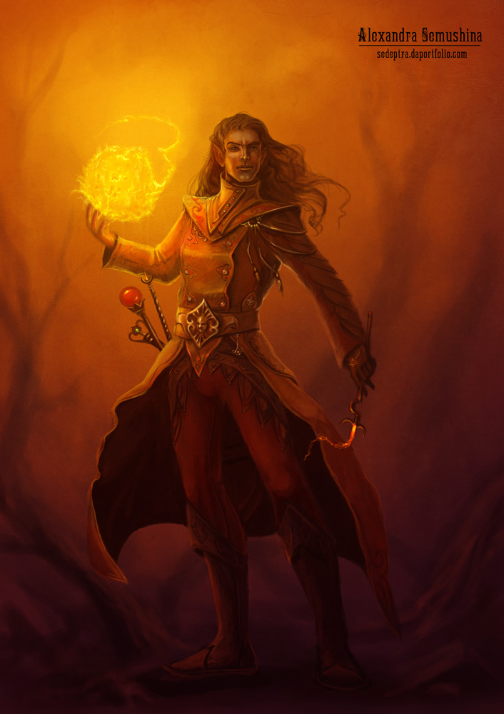 Fire mage by Sedeptra