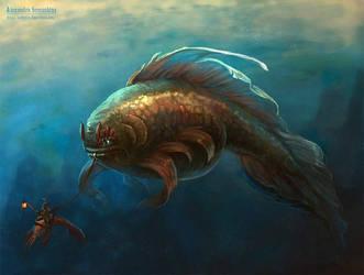 Big bad fish by Sedeptra