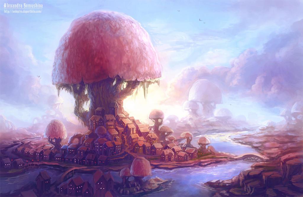 Mushroom city by Sedeptra