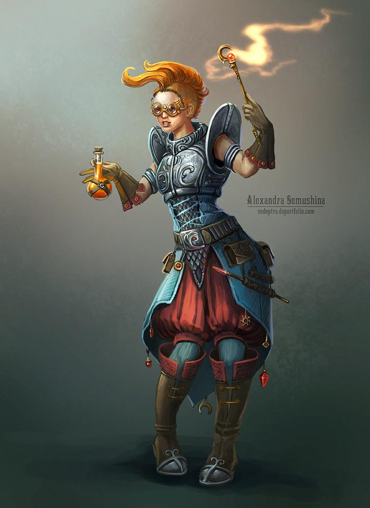 Female alchemist by Sedeptra