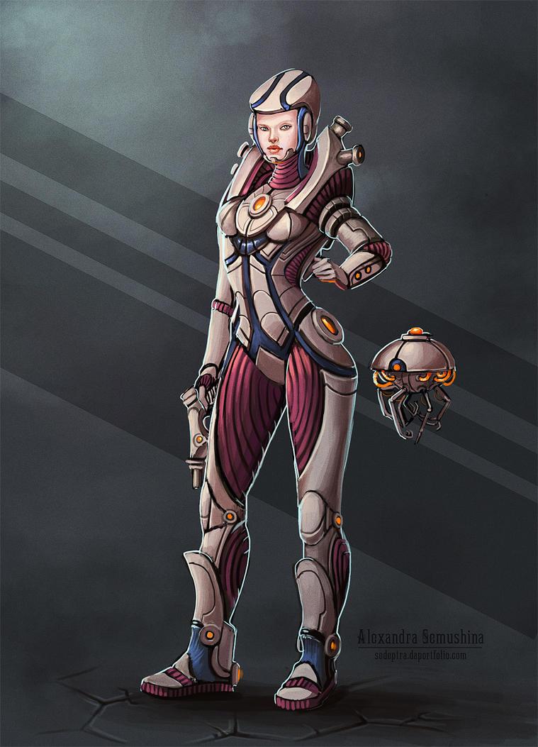 Sci-fi Girl with Gun by jdp89 on DeviantArt