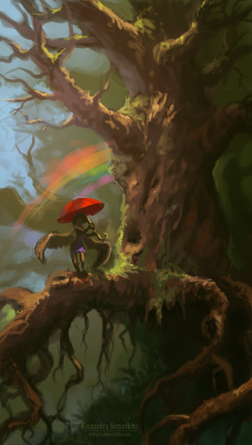 Red umbrella by Sedeptra